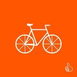 bike icon vector illustration. Flat design style