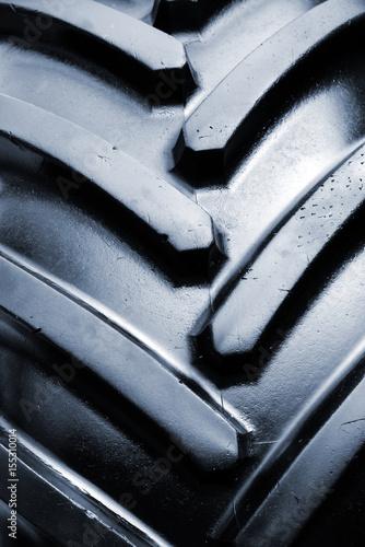 Fotobehang Trekker Tractor tire detail
