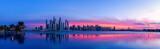 Stadtpanorama von Dubai bei Sonnenaufgang - 155323097