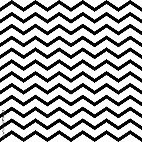 Wave pattern seamless black and white colors. Stripe abstract background vector.