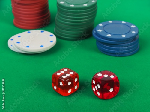 Dice gambling game плакат