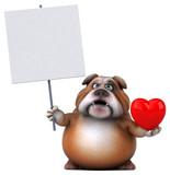 Fun bulldog - 3D Illustration - 155375649