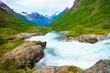 Videfossen Waterfall in Norway - 155413045