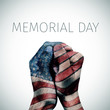text memorial day and american flag