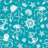 Ocean treasures seamless pattern