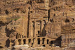 Ancient abandoned rock city of Petra in Jordan tourist attraction  - 155458481