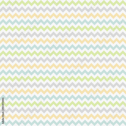 seamless pattern with colorful zig-zag - 155473086