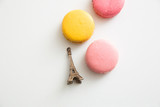 French macarons with Eiffel Tower