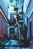 Narrow European city street - 155524446