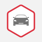 Isolated hexagon with a car