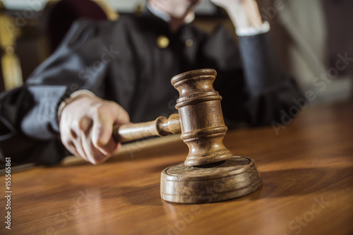 the hammer in the hand of the judge