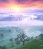 Lazeyschina Lazeshchyna village in the mist