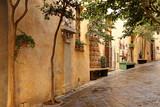 Quiet cobblestone street in Orvieto, Tuscany, Italy