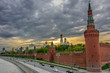 Sunset over Moscow Kremlin - Red Square, Russia.
