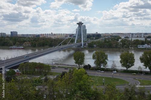 Foto op Canvas UFO UFO Bridge in Bratislava
