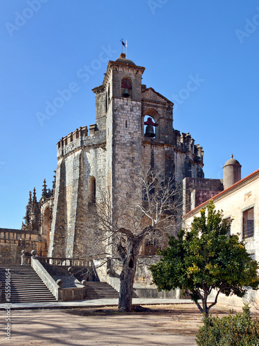 12th century Templar Church at the Convent of Christ in Tomar - Portugal Poster