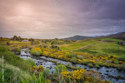 Poster Heuvel Beautiful rural Irish landscape