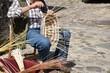 Craftsman interlaces bamboo basket , Craft work