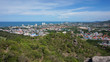 Aerial view of Hua Hin city  with coastline from mountain, Thailand - 155658463