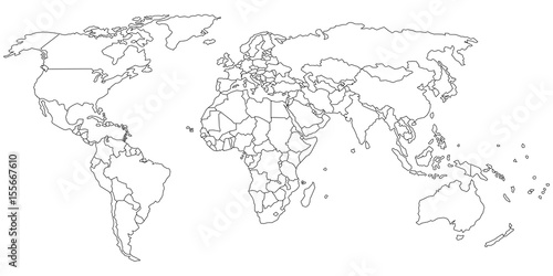 Simple outline of world map on transparent background buy photos simple outline of world map on transparent background gumiabroncs Image collections