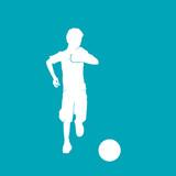 silhouette enfant et ballon