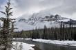Castle Mountain Alberta in Winter