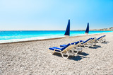 Beautiful beach in Nice, France.