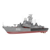 Missile Corvettes of the Soviet Navy Nanuchka class Project 1234 on white. 3D illustration
