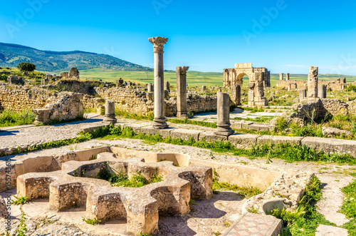 Keuken foto achterwand Marokko Ruins of Bath in ancient city Volubilis - Morocco