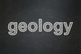 Science concept: Geology on chalkboard background