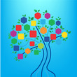 education  icons  and  tree  vecor - 155771837