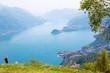 Lago di Como (IT) - Vista panoramica dal Rifugio Menaggio