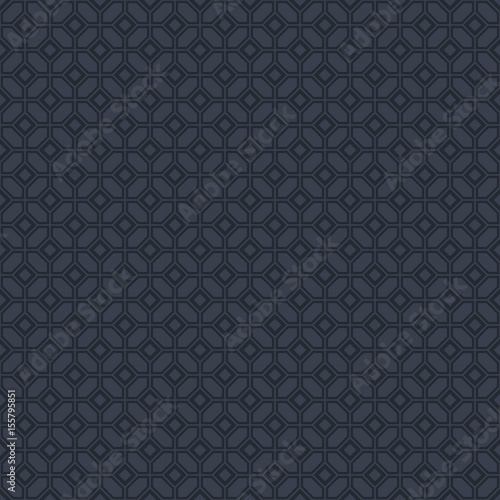 Vector black elegant geometric seamless pattern. Ornamental seamless background - 155795851