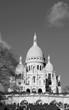 Sacre Coeur Basilica (Paris, France). Black and white.