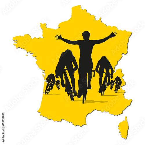 cyclisme - tour de France - maillot jaune - sprint -course - vélo - vainqueur