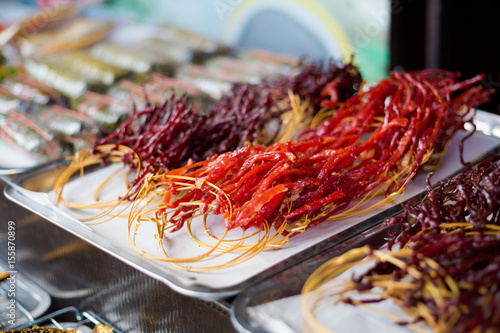 Bunch of dried thai meat