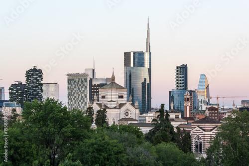 Fotobehang Milan Milan skyline, Italy