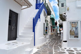 greece, alley, white, blu, summer