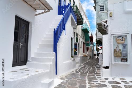 greece, alley, white, blu, summer