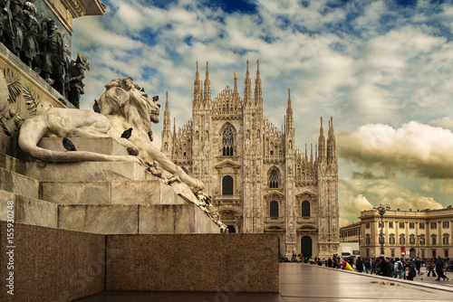 Keuken foto achterwand Milan Duomo di Milano, Italia