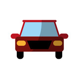 car frontview icon image vector illustration design
