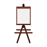 easel paint or painting icon image vector illustration design  - 155958410