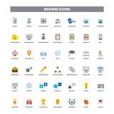 CV & Resumé color flat icons