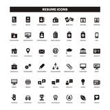 CV & Resumé black solid icons