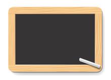 Ardoise D'École Avec Craie Sticker