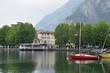 Quadro Porto di Lecco sul lago di Como in Italia