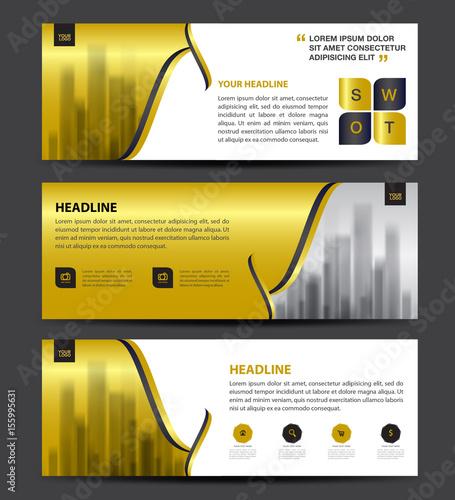 Cosmetics banner designtemplate vector horizontal banner for Horizontal brochure design