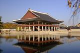 Pavilion at Gyeongbokgung Palace, the main royal palace of the Joseon Dynasty, Seoul Korea
