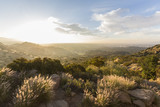 Sunrise view at Santa Susana State Historic Park in the San Fernando Valley area of Los Angeles, California.