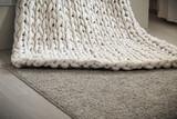 Super chunky yarn, white plaid - 156031064